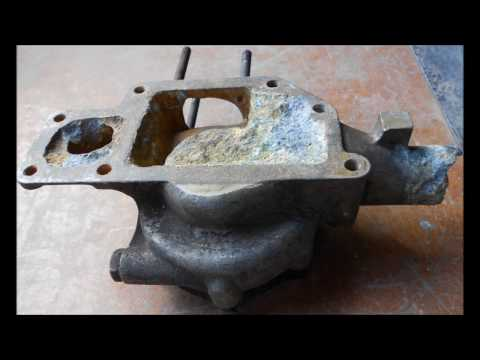 Casting an Armstrong Siddeley water pump