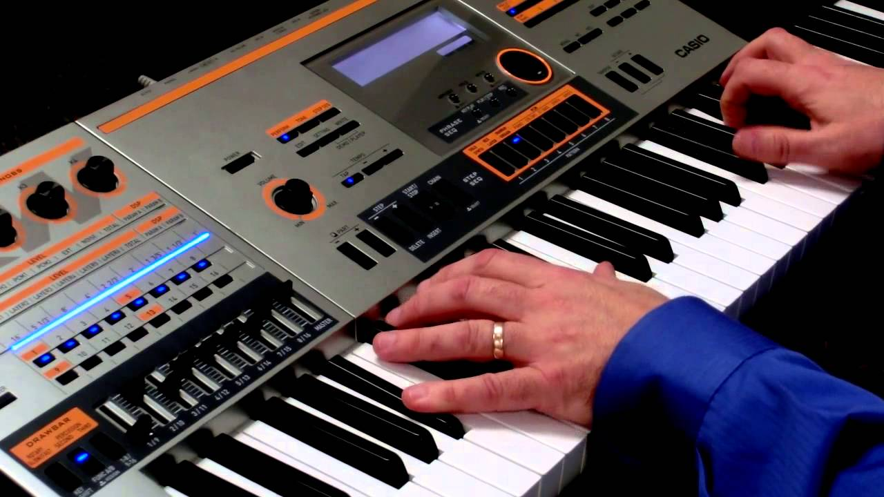 Casio XW-P1 Drawbar Organ with Ventilator - YouTube