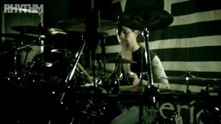 Rhythm Magazine drum lessons: Lamb Of God's Chris Adler demonstrates his warm-up routine at the kit