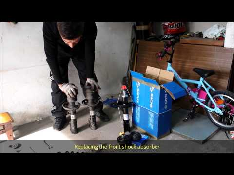 Replacing the front shock absorber SACHS Opel Astra - PL voice