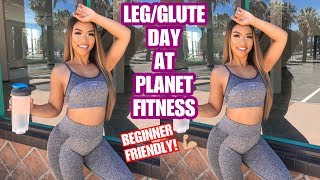LEG/GLUTE WORKOUT AT PLANET FITNESS | LOVEEMANDA