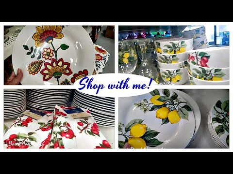 NEW DOLLAR TREE Shop with me | Lemon & Cherry Plates