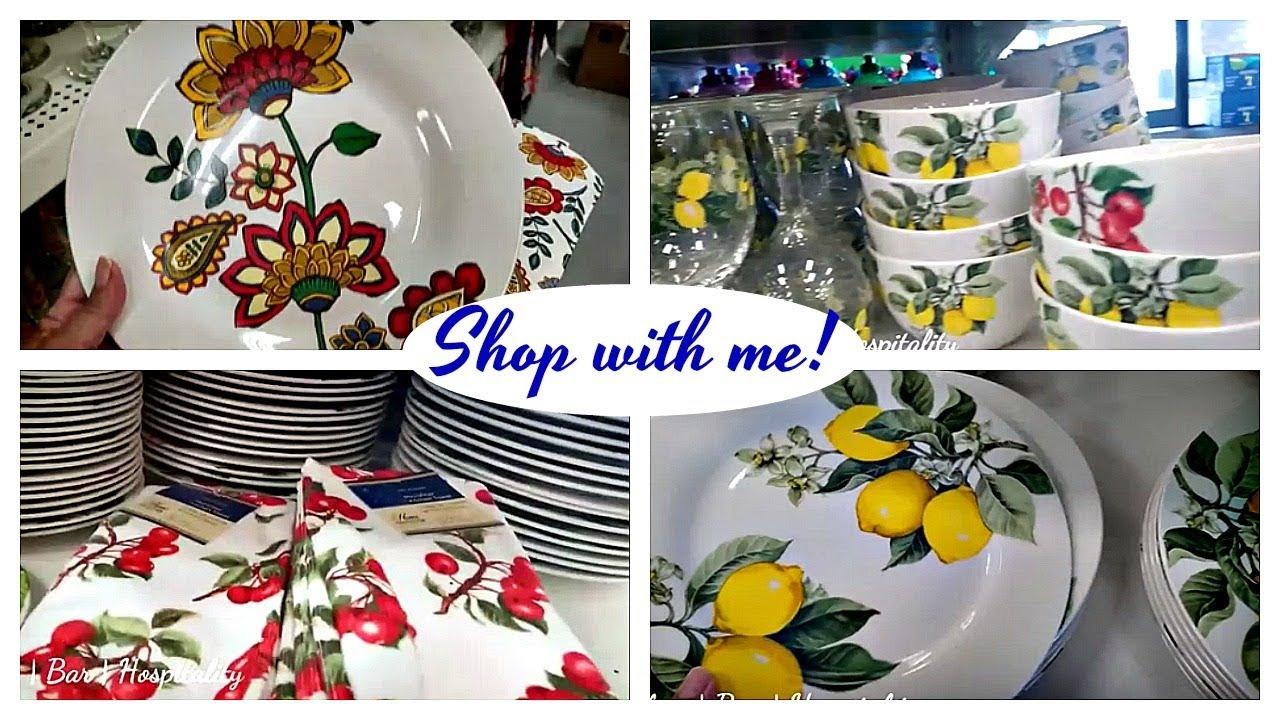 NEW DOLLAR TREE Shop with me   Lemon \u0026 Cherry Plates & NEW DOLLAR TREE Shop with me   Lemon \u0026 Cherry Plates - YouTube