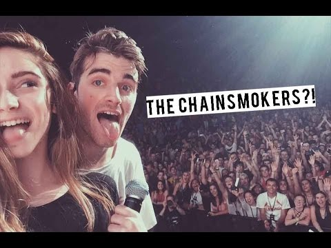 I GOT TO SING WITH THE CHAINSMOKERS *LIVE FOOTAGE*