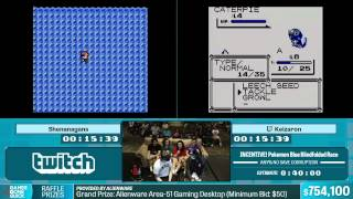 Pokemon Blue Blindfolded Race by Various Runners in 25:53 - Summer Games Done Quick 2015 - Part 142