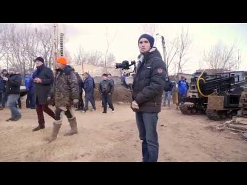 Сваебойная установка в Калуге - битва сваебоев