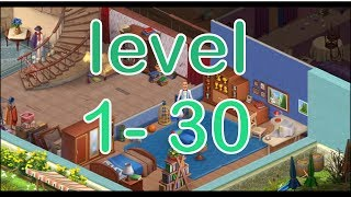 HOMESCAPES GAMEPLAY LEVEL 1 - 30
