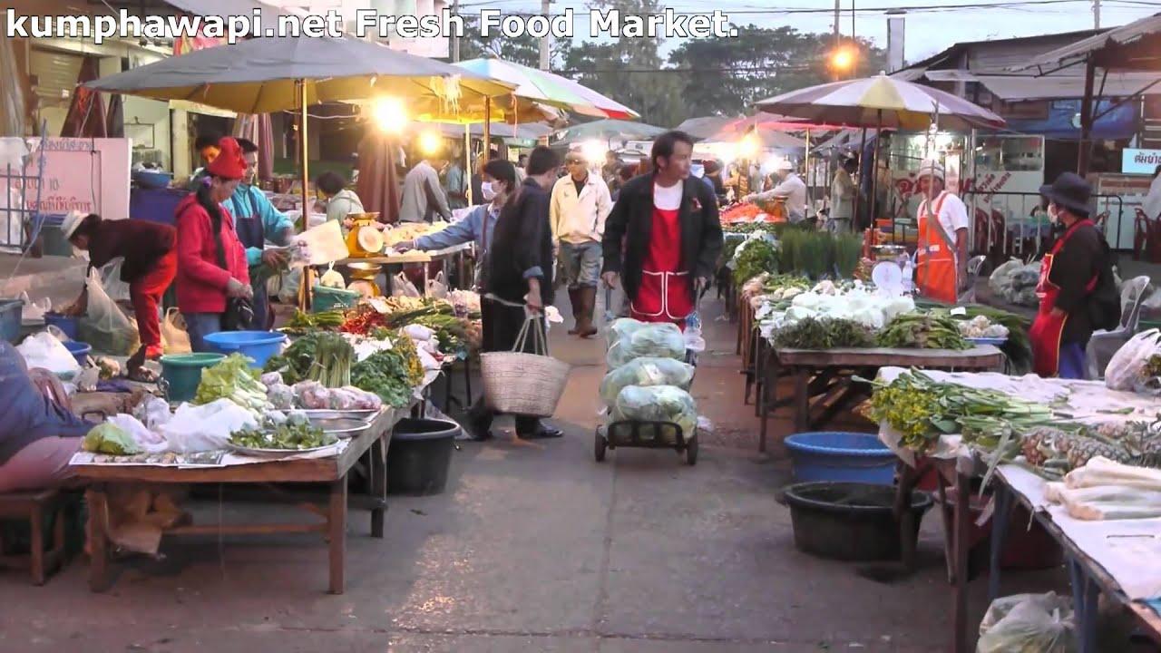 Kumphawapi Thailand  city pictures gallery : Kumphawapi Fresh Food Market Thailand YouTube