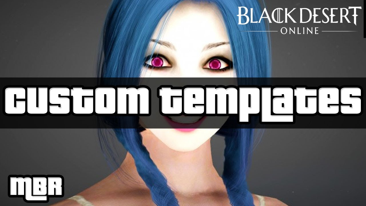 black desert online custom character templates jinx league of