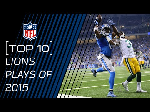 Top 10 Lions Plays of 2015   #TopTenTuesdays   NFL
