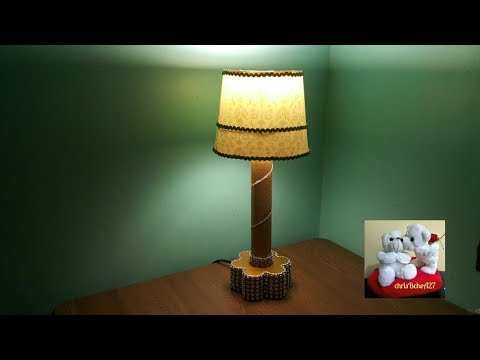 DIY#99 Table Lamp Using Recycled Tube Roll & Jollibee Chicken Bucket
