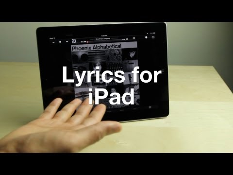 Lyrics for iPad