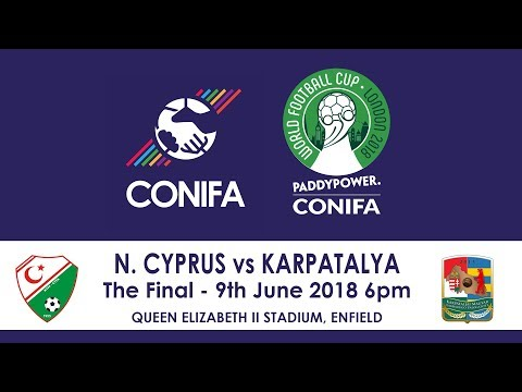 CONIFA World Football Cup 2018 - Final | Northern Cyprus v Karpatalya   Highlights