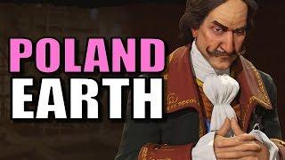 Civ 6: Poland Gameplay [True Start Earth Location Map] Let's Play Civilization 6 Poland | Part 9