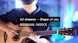 Ed Sheeran - Shape of you [Fingerstyle Cover] Gopherwood G620CE