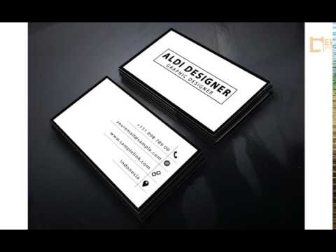 Simple and Clean Business Card Design Tutorial - Photoshop Tutorial thumbnail