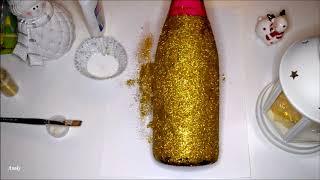 Украшаем бутылку шампанского к Новому году. Do it yourself.