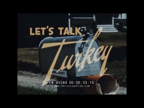 GENERAL MILLS TURKEY RAISING & LARRO RESEARCH FARM Thanksgiving 1940s PROMOTIONAL FILM  45584