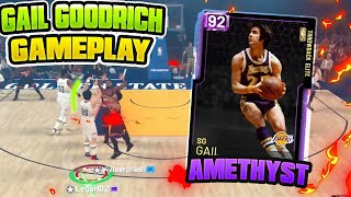 INSANE AMETHYST GAIL GOODRICH GAMEPLAY!! BUDGET BEAST DROPS 30 POINTS IN A HALD!! NBA 2K19 MYTEAM