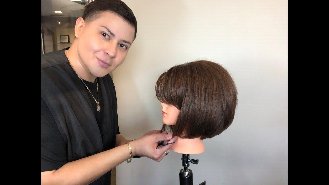 Corte de cabello concavo mujer
