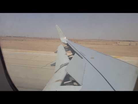 Saudia Air Windy Landing at Riyadh RUH Airport. Taxi on bridge.