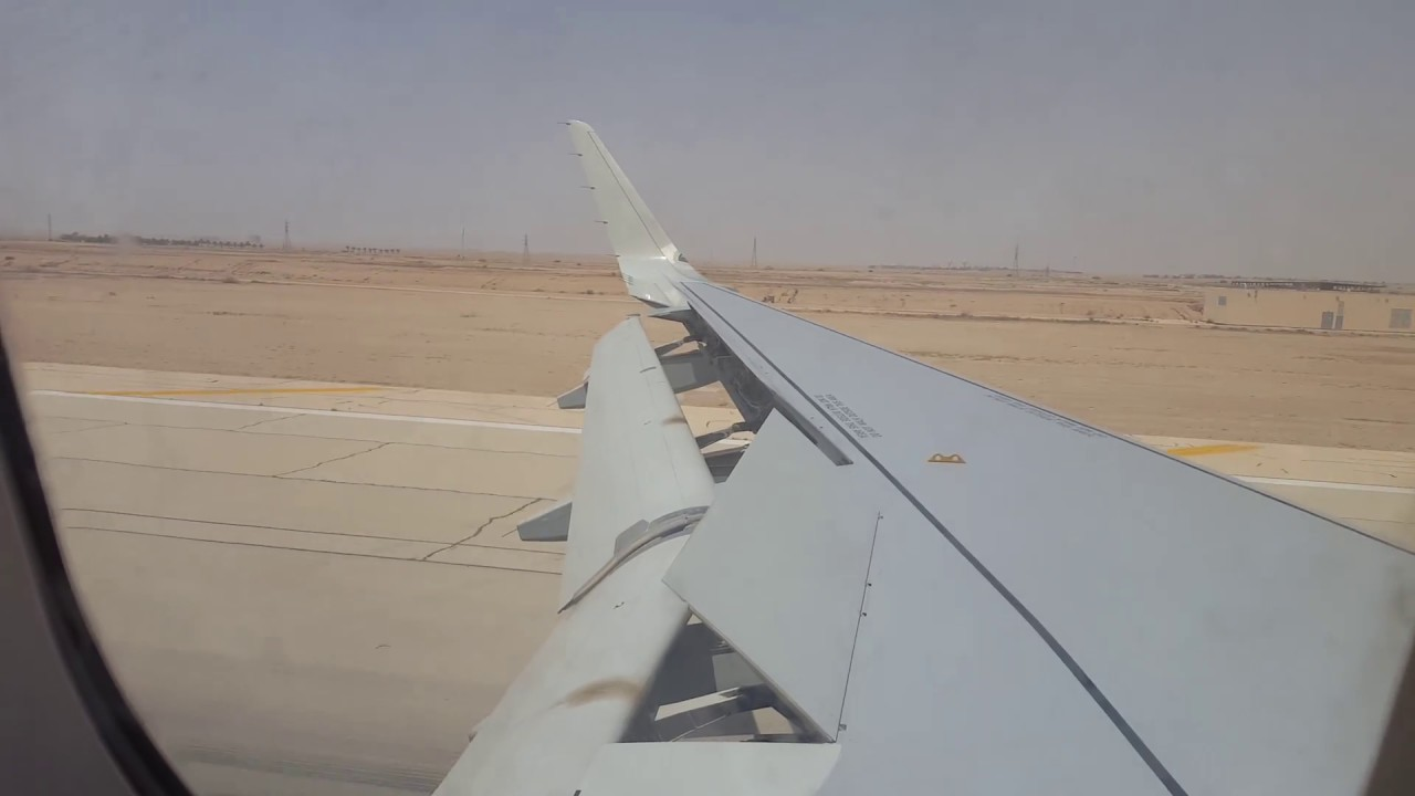 Download Saudia Air Windy Landing at Riyadh RUH Airport. Taxi on bridge.