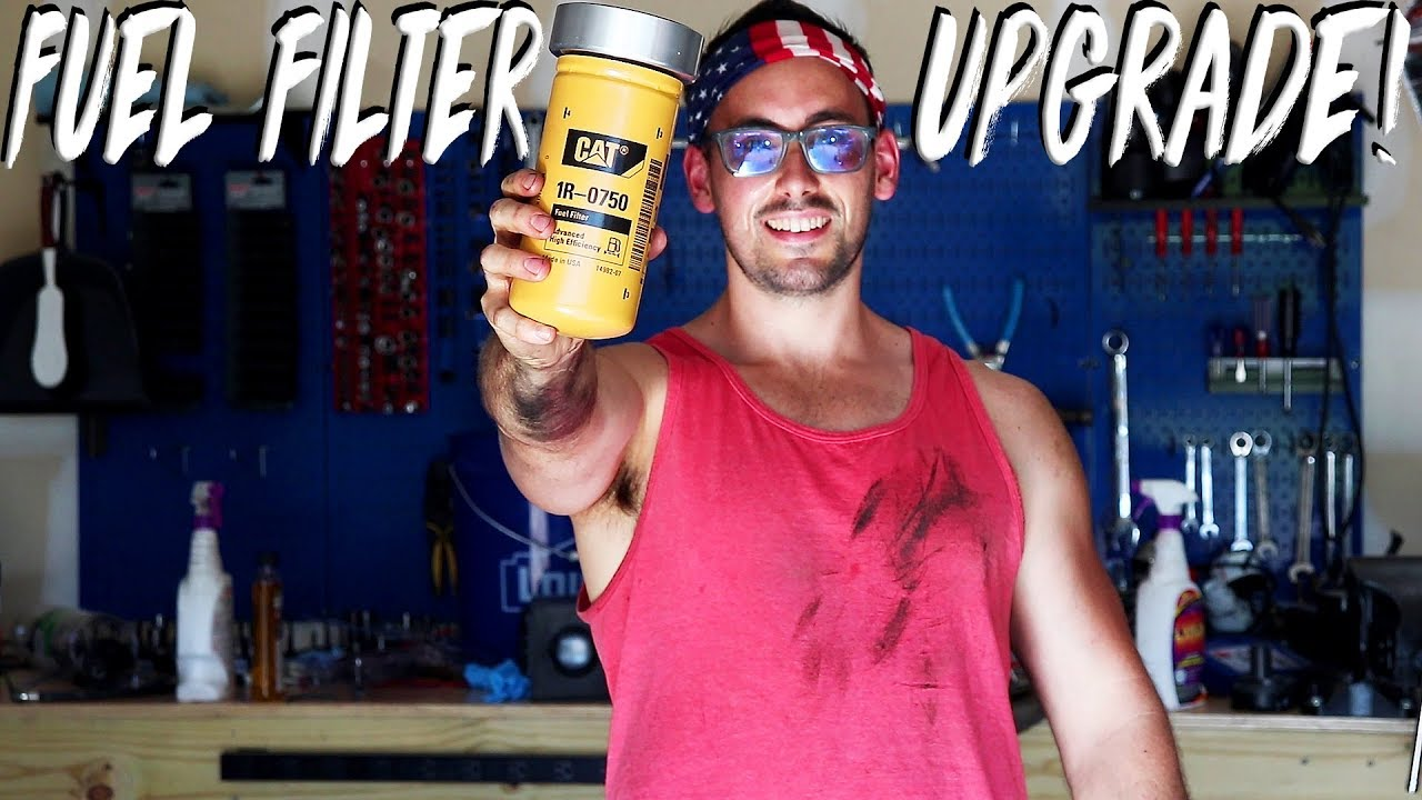 Installing A Cat Fuel Filter On The Duramax Youtube Filters
