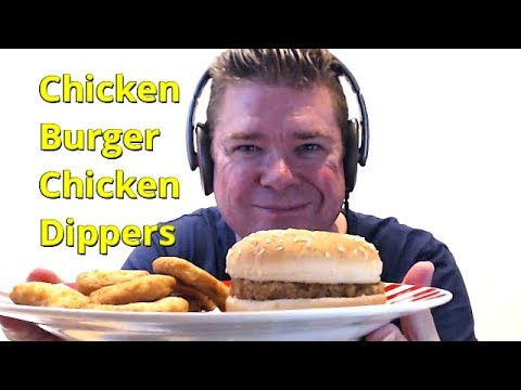 Asmr Mukbang Eating A Chicken Burger And Chicken Dippers With Ice