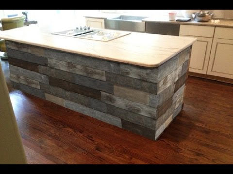 oak kitchen islands island with stove top gorgeous reclaimed wood ideas youtube