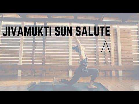 Jivamukti Surya Namaskara A   Echo Flow Yoga - YouTube