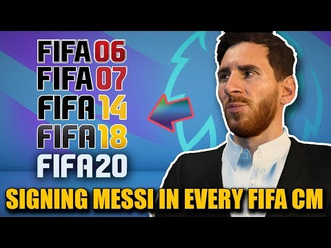 SIGNING MESSI IN EVERY FIFA (from FIFA 06 to 20) - Career Mode