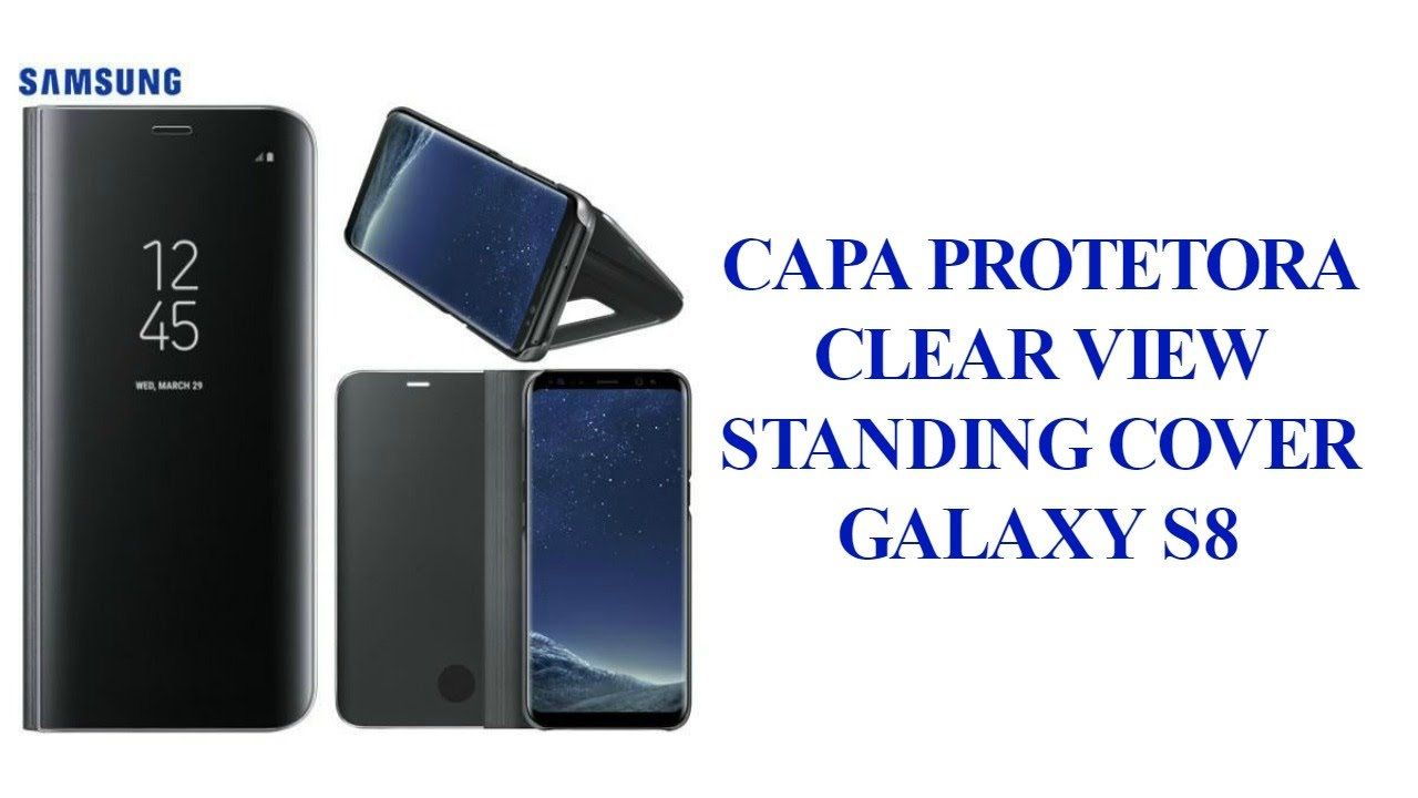 superior quality dddf9 94cee Galaxy S8 - Capa Protetora Clear View Standing Cover