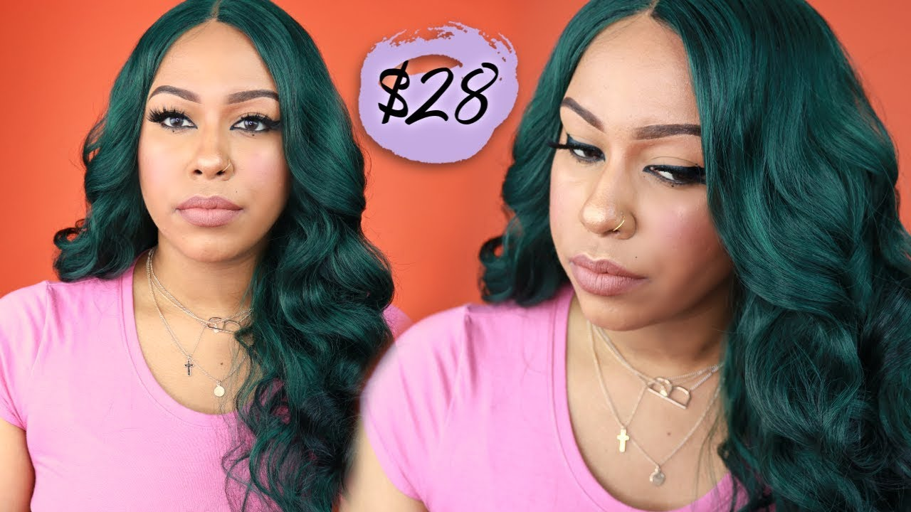28 It S A Wig Synthetic Swiss Lace Wig Houston Midnight Green