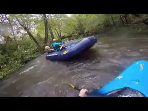 Two sisters fighting on rafting expedition