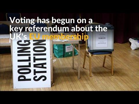 Britons vote in historic EU membership referendum
