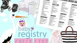 Baby Registry checklist!!! (FREE CHECKLIST DOWNLOAD)