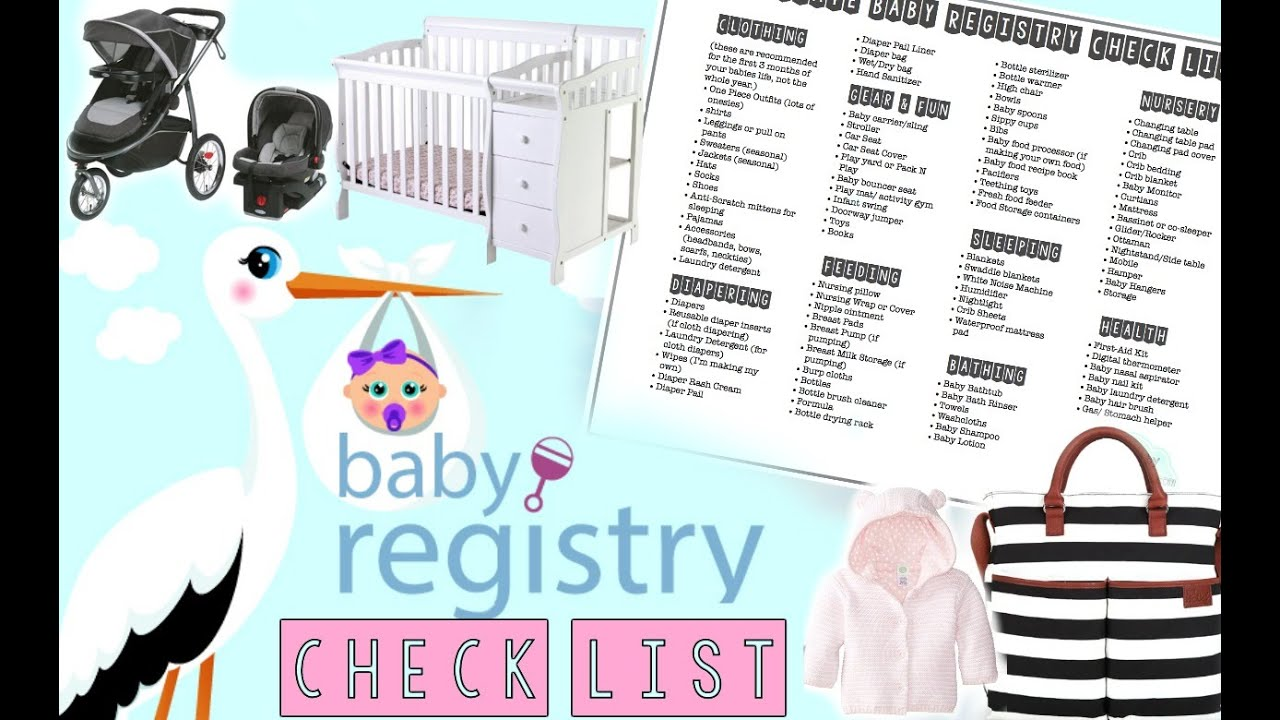 Baby Registry checklist!!! (FREE CHECKLIST DOWNLOAD) - YouTube