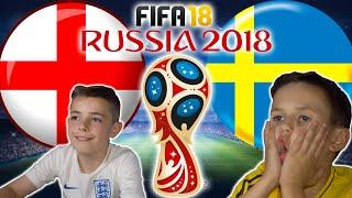 WORLD CUP 2018 QUARTER FINALS | ENGLAND VS SWEDEN | FIFA 18 SCORE PREDICTOR!