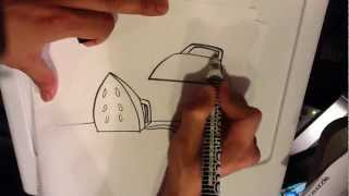 How to Draw an Iron - Easy Drawings