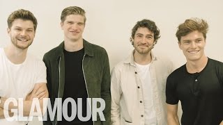 Jim Chapman, Oliver Cheshire, Carly Rowena, and Dougie Poynter Play Would You Rather | Glamour UK
