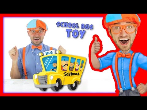 Thumbnail: School Bus Toy with Blippi | Wheels On The Bus Song