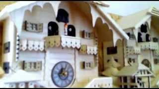 Nástěnné kukačkové hodiny - alpská chata