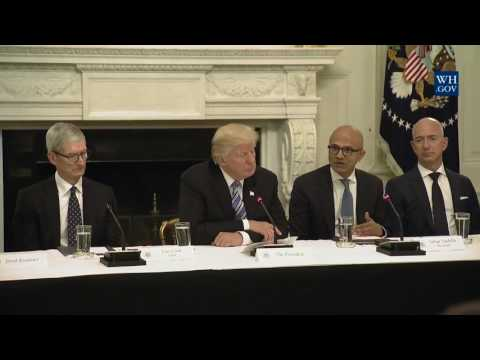 President Trump hosts an American Technology Council Roundtable