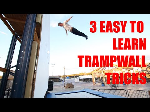 TRAMPWALL TUTORIAL: 3 TRICKS YOU CAN LEARN TODAY - How to swan, 360, backflip side drop