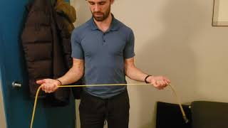 Simplified Rotator Cuff Isolation Strength exercises with stretch/theraband