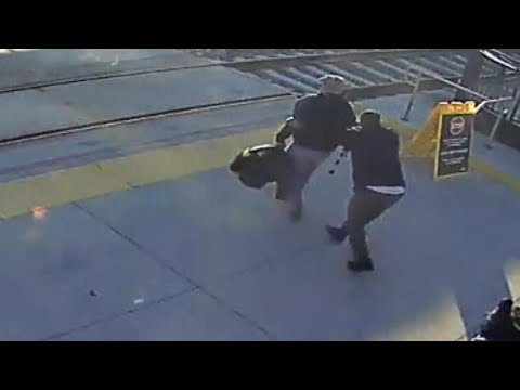 Blind Man Saved From Being Hit by Train in Heart-Stopping Video