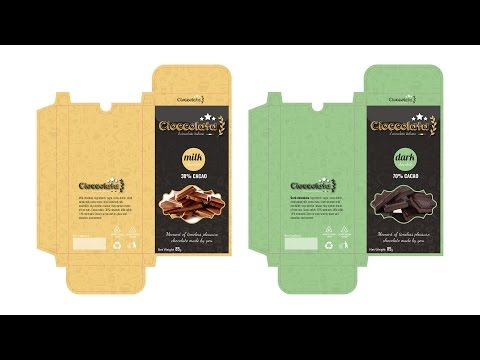 PACKAGING DESIGN Cioccolata / Chocolate - Tutorial Adobe  illustrator CC - (section A) Mp3