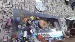 Картина за 10 минут от уличного художника в Праге(Видео из путешествия по Европе в 2012 году. Здорово работает художник! Подписывайтесь на канал, чтобы не проп..., 2012-12-31T15:41:29.000Z)