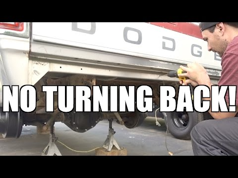 DRILLING INTO THE FIRST GEN CUMMINS BUILD!!! WELP, WE CAN'T CHANGE THAT BACK!!!