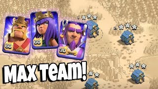 Max Team Level 60 King Level 60 Queen Level 30 Warden All Max Troops TH12 New Update 3 Star Attack